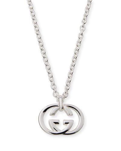 Men's Britt Interlocking GG Pendant Necklace
