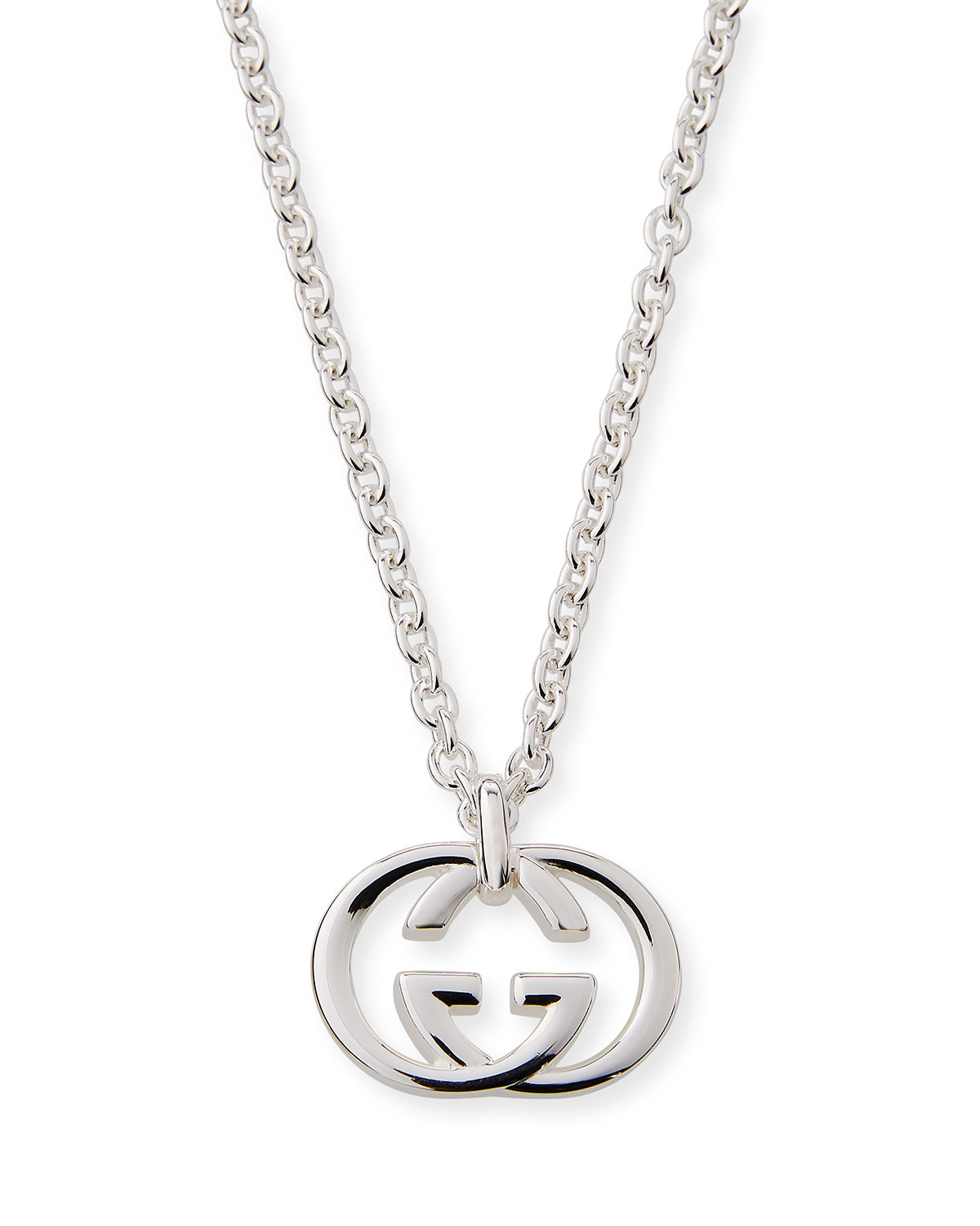 e7c334751 Gucci Men's Britt Interlocking GG Pendant Necklace | Neiman Marcus