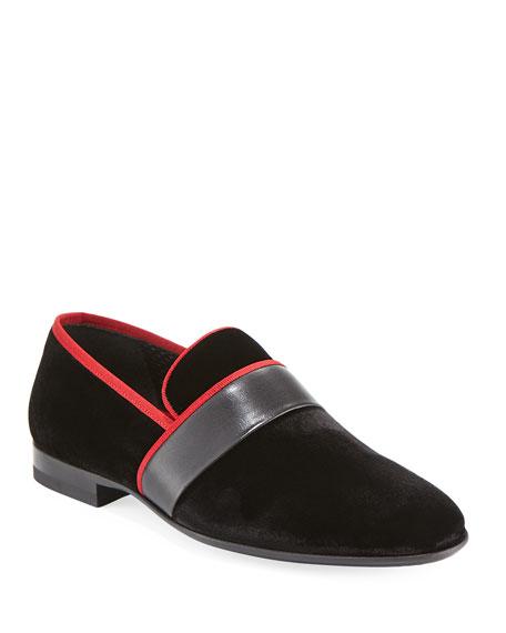Magnanni for Neiman Marcus Men's Velvet Formal Slipper