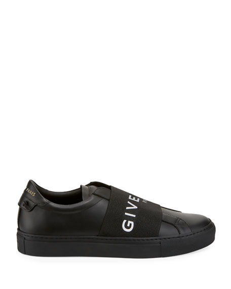 Men's Urban Street Elastic Slip-On Sneakers, Black