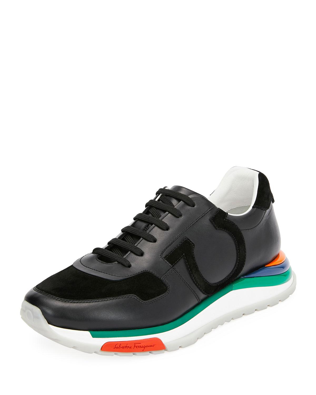 Salvatore Ferragamo Men s Brooklyn Sneakers w  Rainbow Sole   Neiman ... e506a48e87