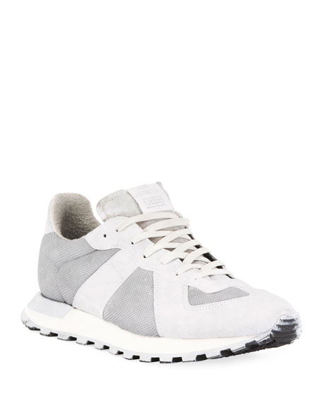 Maison Margiela Men's Replica Runner Leather & Suede Sneakers