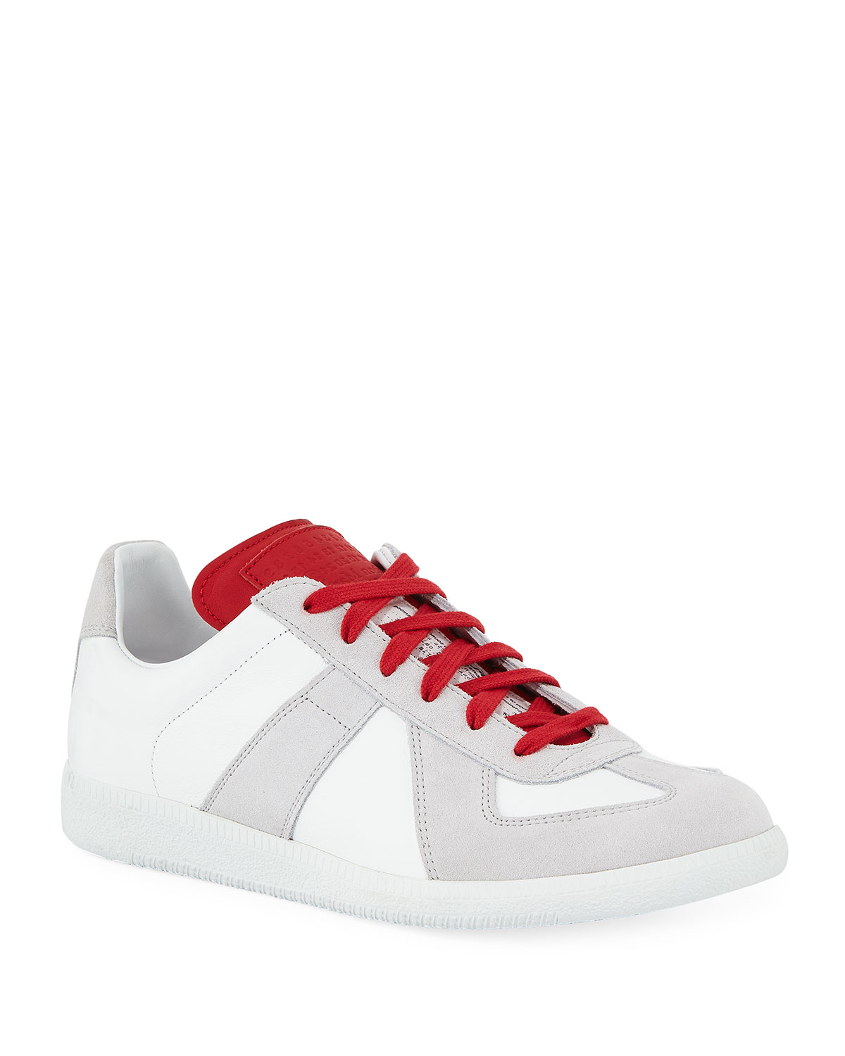 065b2dfdff4 Men's Replica Leather & Suede Low-Top Sneakers with Contrast Trim