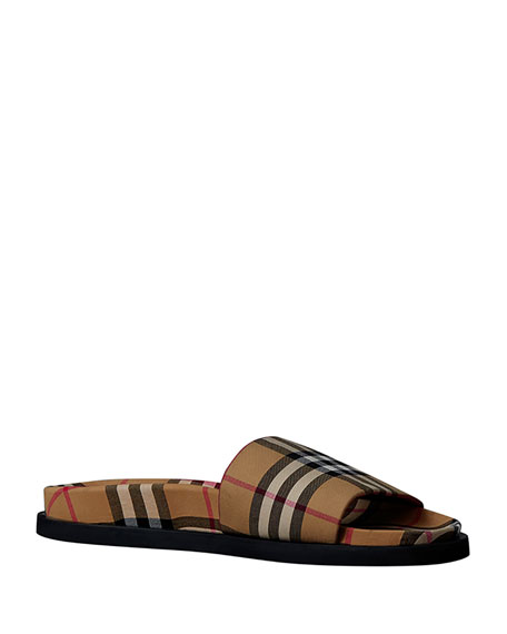 Image 1 of 5: Men's Ashmore Check Slide Sandal