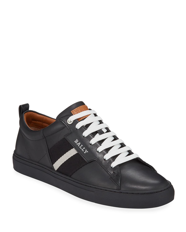 ad436f9c3f399 Bally Men's Helvio Leather Low-Top Sneakers   Neiman Marcus