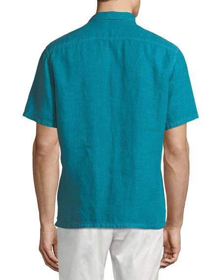 Image 3 of 3: Men's Irving Summer Linen Short-Sleeve Sport Shirt