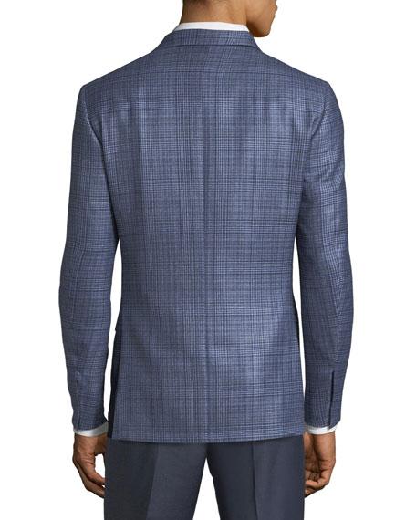 Canali Men's Textured Plaid Cashmere-Blend Two-Button Jacket