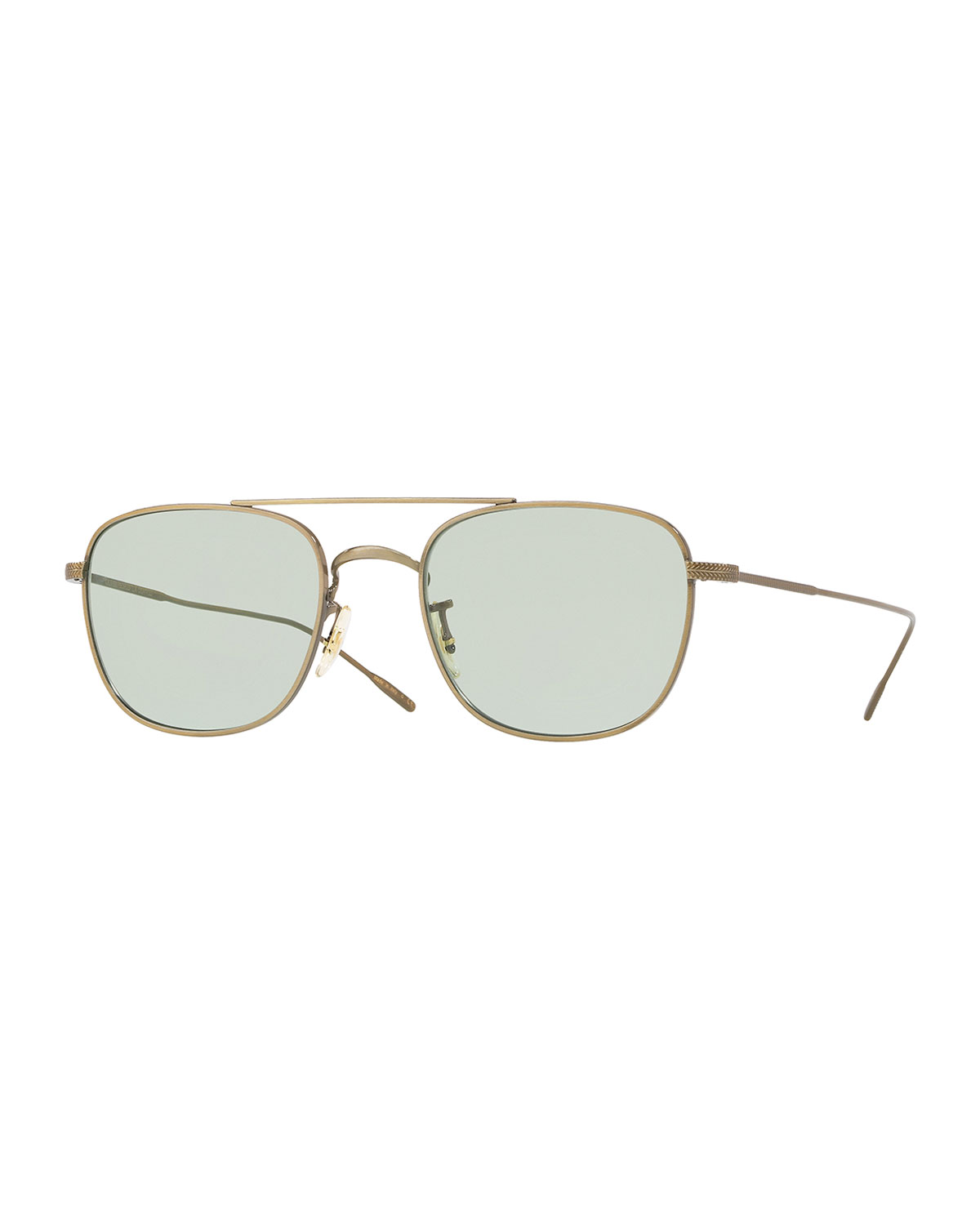0434882008 Oliver Peoples Men s Row Kress Square Metal Sunglasses