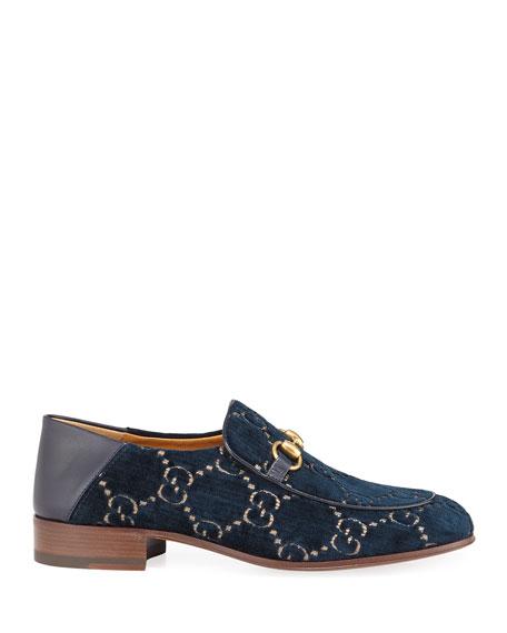Horsebit GG Velvet Loafer