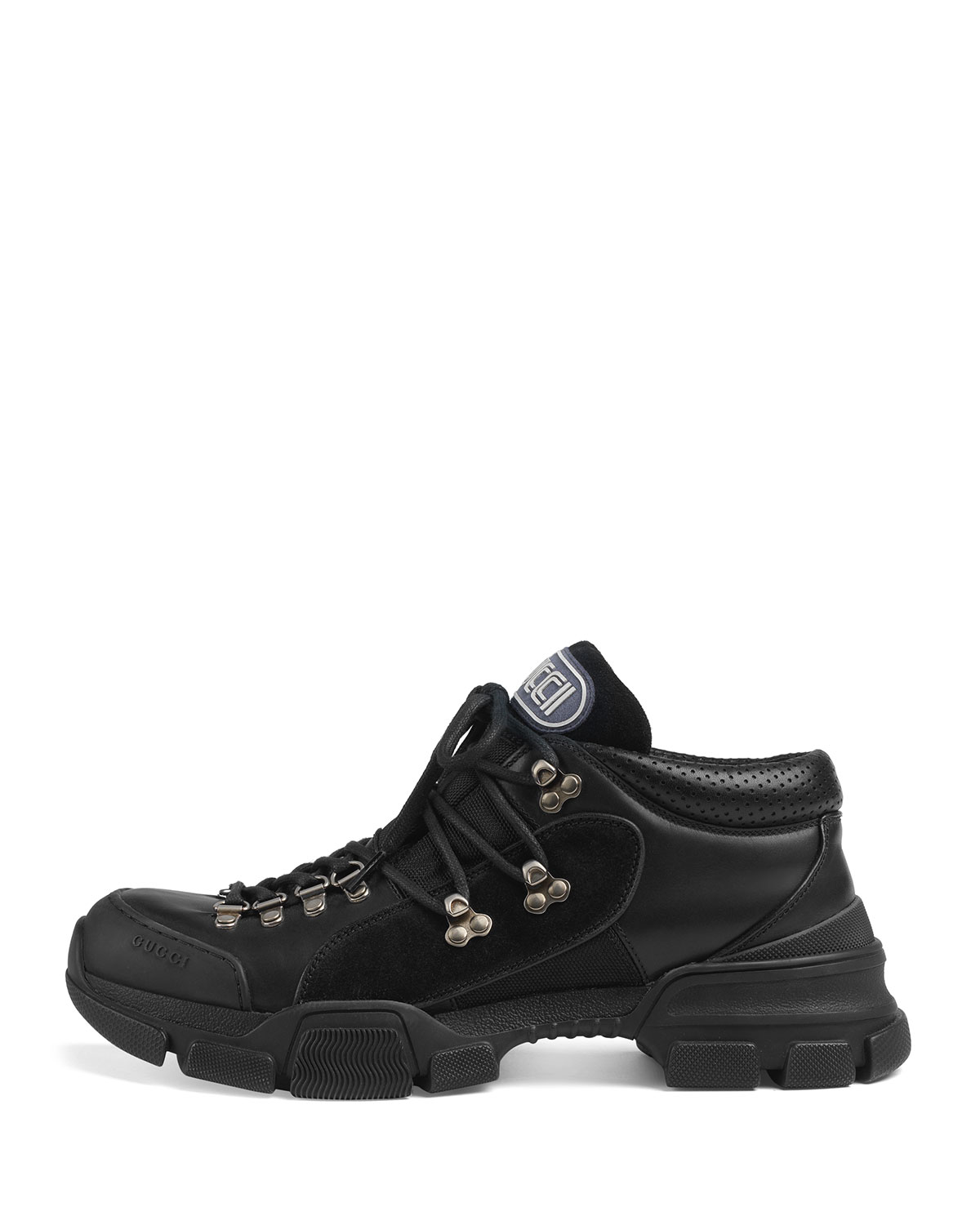692851c44d46ea Gucci Leather and Original GG Trekking Boot | Neiman Marcus