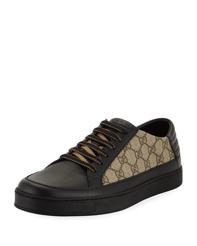8cd5e91a6e6ebc Gucci Men's Common GG Supreme Low-Top Sneakers | Neiman Marcus