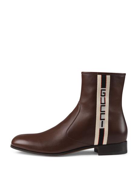 Gucci Stripe Leather Boot