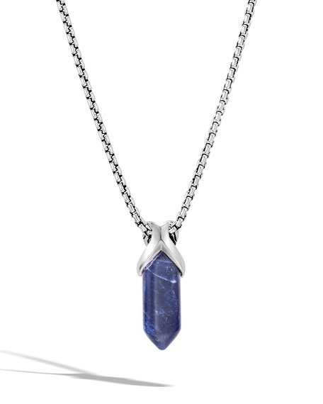Image 1 of 4: John Hardy Men's Classic Chain Pendant Necklace w/ Sodalite, 26""