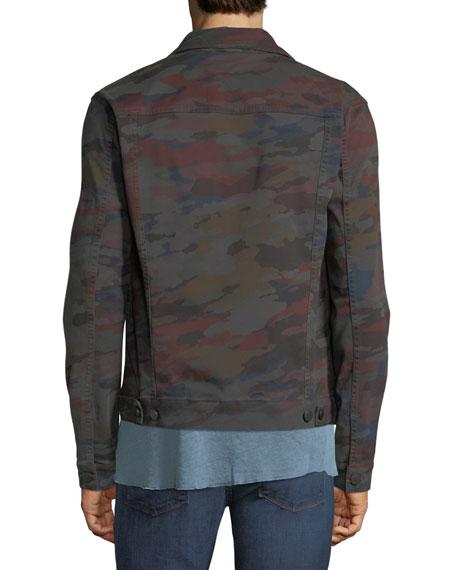 J Brand Men's Acamar Multicolor Camo Trucker Jacket