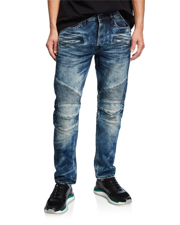 1e2e5b22e4a Hudson Men's Blinder Biker Skinny Moto Jeans | Neiman Marcus