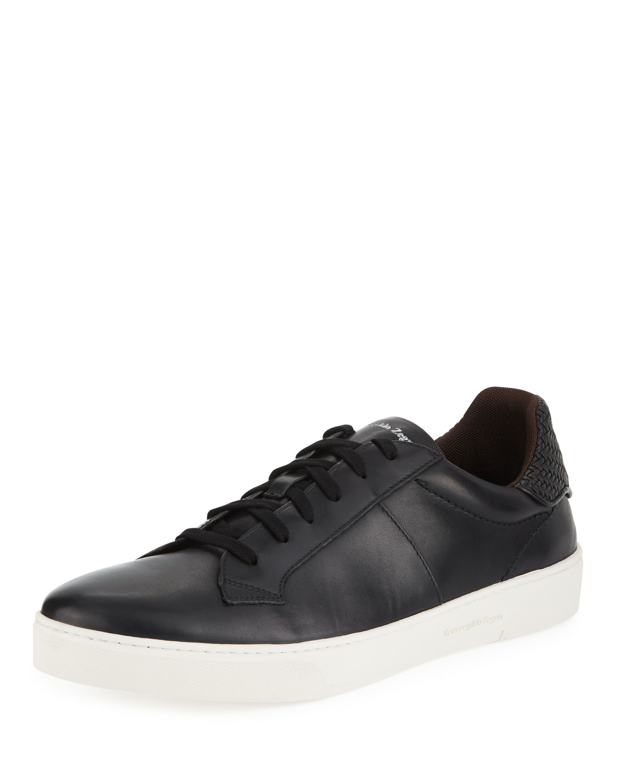 e49a1b94e6 Men's Vulcanizzato Leather Low-Top Sneakers