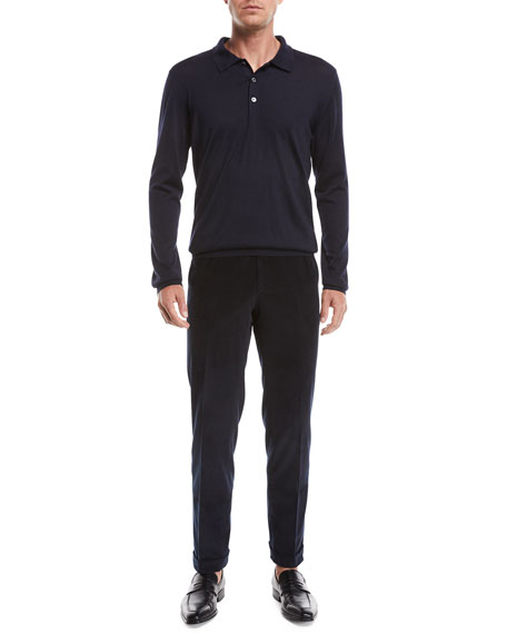 Brioni Men's Pinwale Corduroy Dress Pants