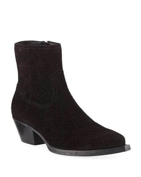 Saint Laurent Men's Lukas Western Suede Boots