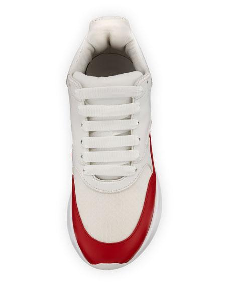 Alexander McQueen Men's Oversized Leather Runner Sneakers
