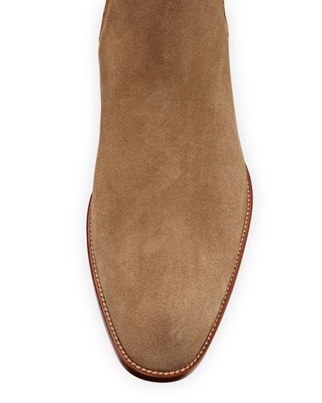 Saint Laurent Men's Wyatt Suede Chelsea Boots