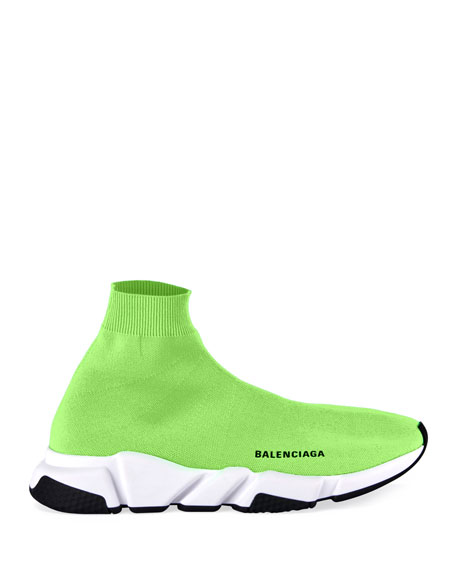 Balenciaga Men's Speed Mid-Top Trainer Sock Sneakers
