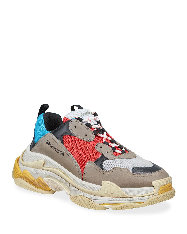 1610b480a0c Balenciaga Men s Triple S Mesh   Leather Sneakers