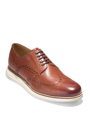 0ad88f0e4fb Cole Haan Men s Original Grand Leather Wing-Tip Oxford