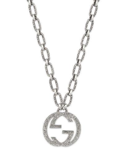 Men's Interlocking G Pendant Necklace  36L