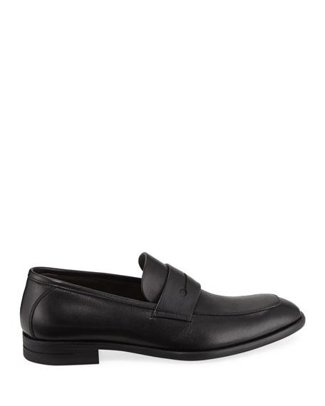 Ermenegildo Zegna Men's New Flex Leather Penny Loafer, Black