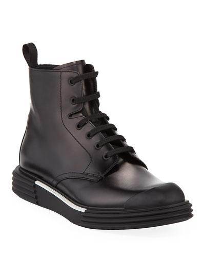 Men's Lace-Up Sneaker Boots