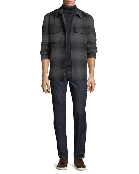 Brioni Men's Dark-Wash Stretch-Denim Jeans, Navy