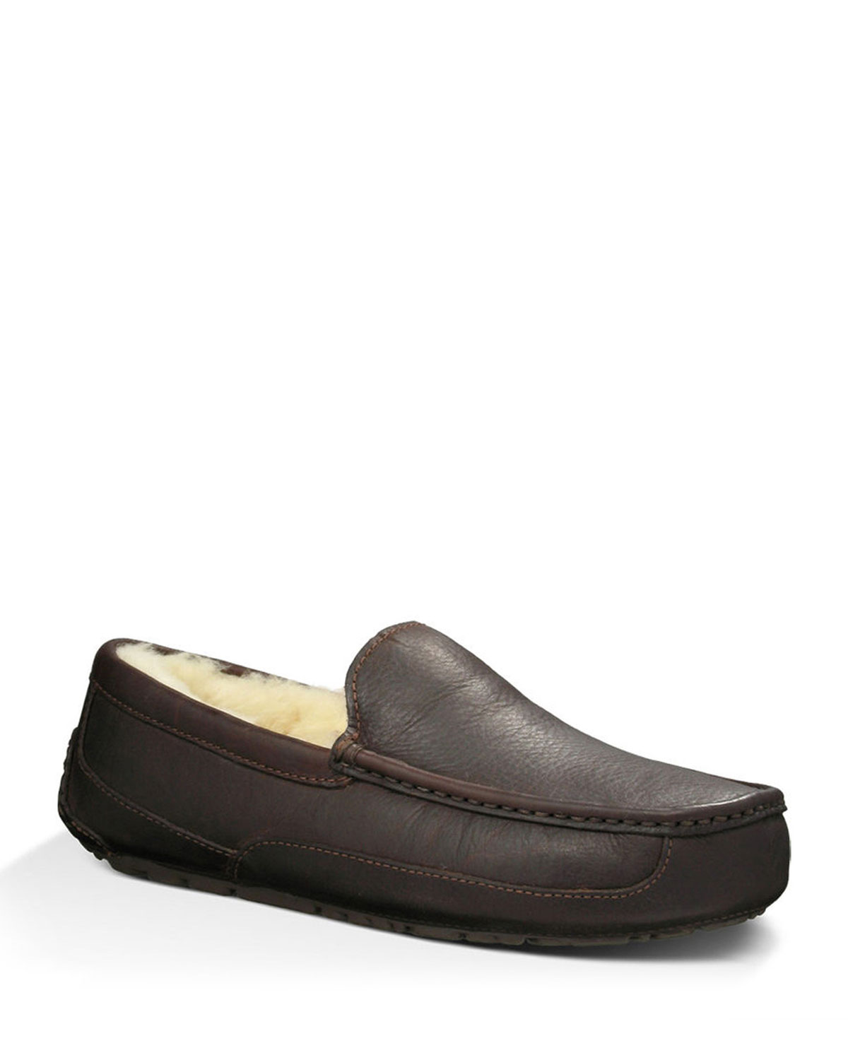 59966e1bb9a7d UGG Men's Ascot Water-Resistant Leather Slippers | Neiman Marcus