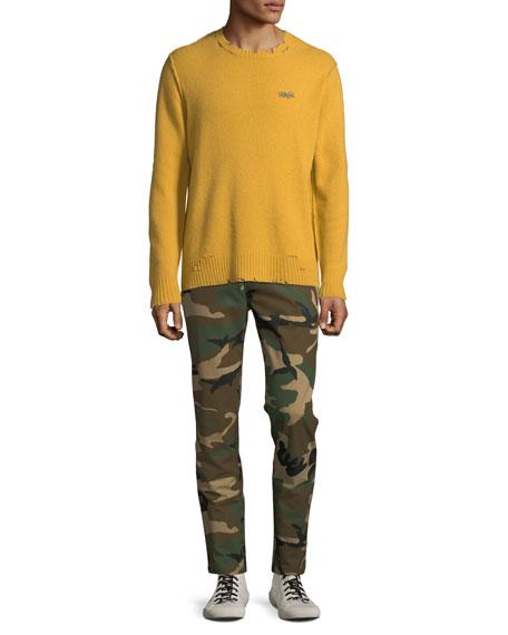Ovadia & Sons Men's Camo-Print Side-Stripe Track Pants