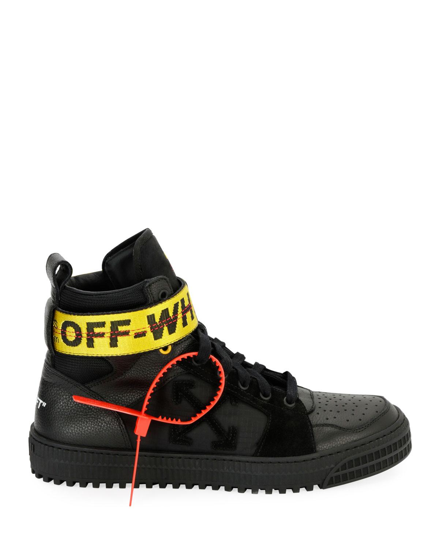 Industrial High-Top Sneakers, Black