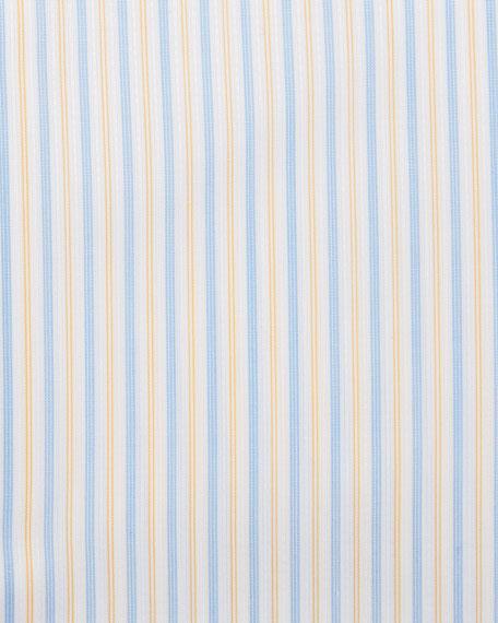 Stefano Ricci Men's Contrast Collar/Cuff Striped Dress Shirt