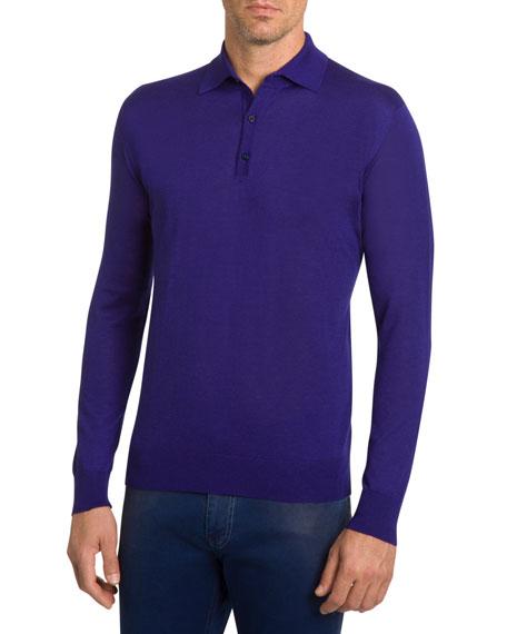 Stefano Ricci Sweaters Men's Cashmere Polo Sweater