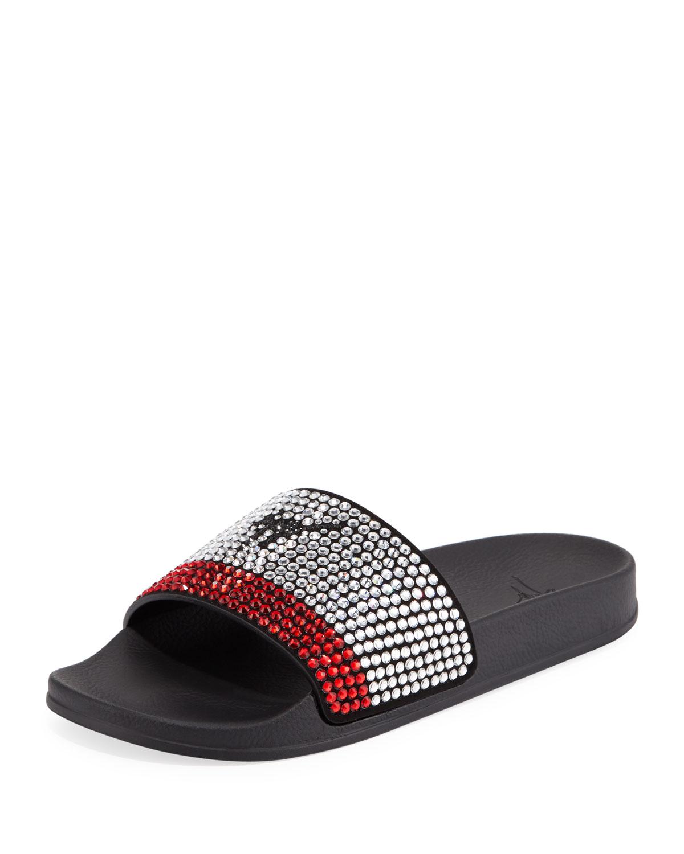 d62c94697e8 Giuseppe Zanotti Men s Crystal-Embellished Athletic Slide Sandal ...