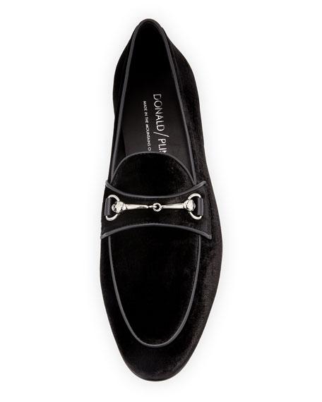 Donald J Pliner Men's Palti Velvet Slip-On Loafers