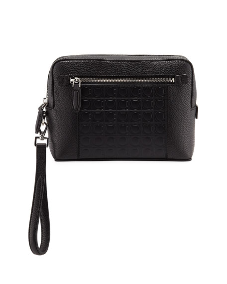 Salvatore Ferragamo Men's Firenze Gamma Textured Leather Belt Bag