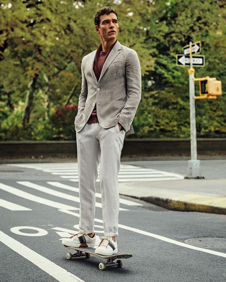 Ermenegildo Zegna Men's Crossover Linen Sport Coat