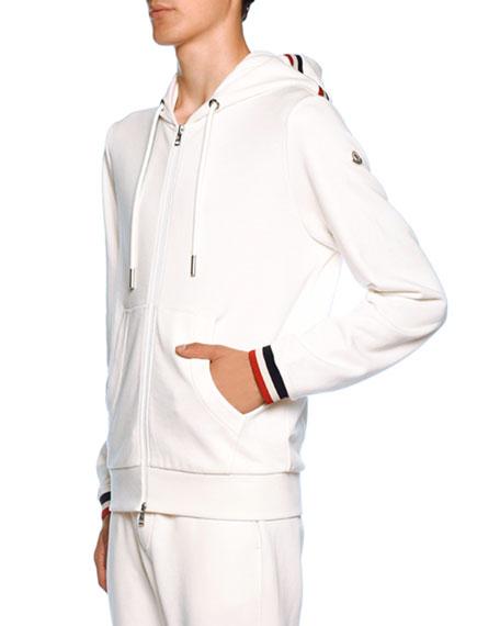 Moncler Men's Jersey Knit Zip-Front Hoodie