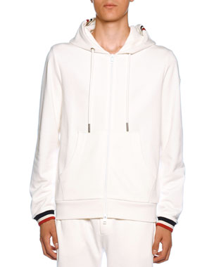 dfac9332 Moncler Men's Jersey Knit Zip-Front Hoodie