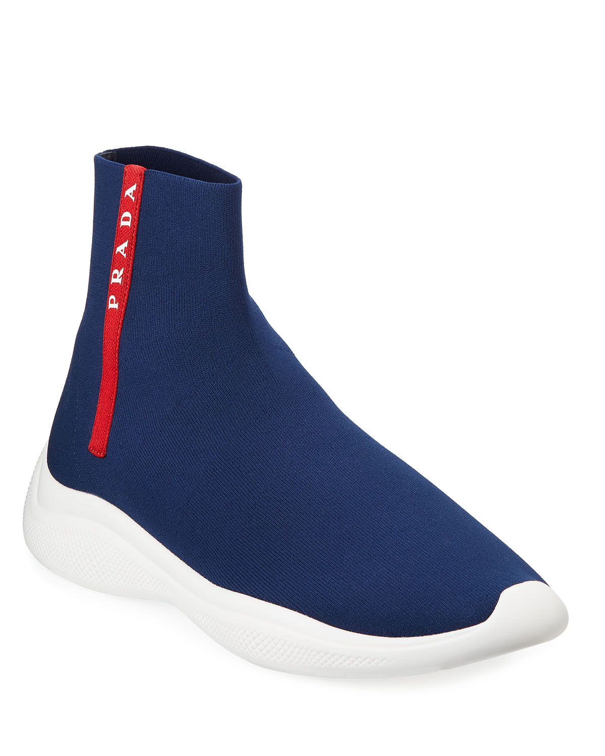 bb74060509c4 Prada Men s Sock-Boot Sneakers