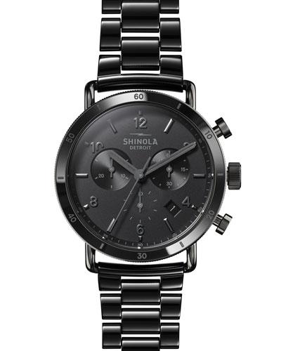 Men's 40mm Canfield Sport Ceramic Bracelet Watch