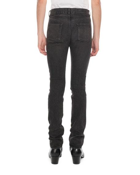 Saint Laurent Men S Raw Denim Slim Jeans Neiman Marcus
