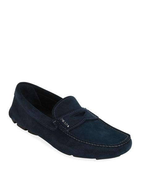 Prada Men's Suede Driver Shoes