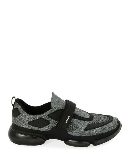 Prada Men's Cloudbust Runner Sneakers with Single Grip-Strap