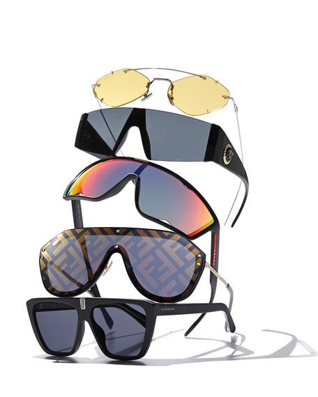 Dior Men's Inclusion Rimless Mirrored Sunglasses