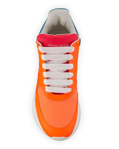 Alexander McQueen Men's McQueen Runner Shoes in Leather