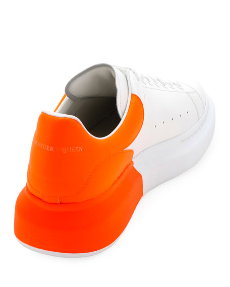 Alexander McQueen Men's Oversized Colorblock Leather Low-Top Sneakers